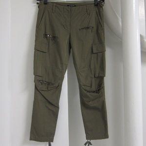 Balmain Army Green Cargo Pants